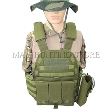 2017 New Tactical Vest Water Bag Radio Tool Magazine Pouch Molle System Hunting Shooting Vest(China)