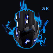 Malloom 2017 5500DPI 7 Keys LED lamp Optical USB Wired Gaming Mouse sem fio Mice Pro Gamer for PC Laptop Computer mause Hot Sale(China)