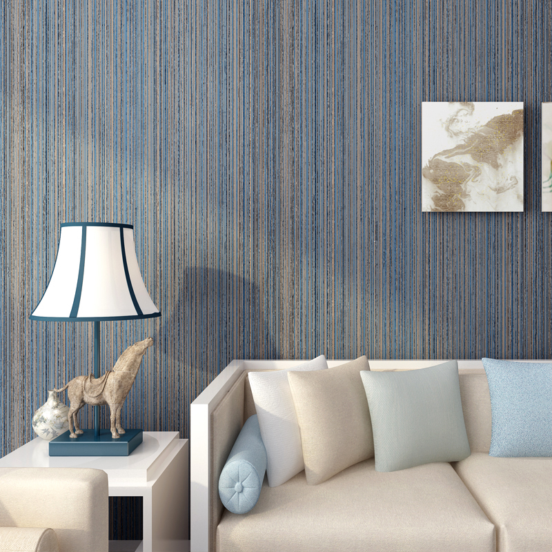 Modern Solid Color Wall Paper for Walls Vertical Stripes Non-woven Wallpaper Roll for Living Room Walls papel de parede listrado<br>