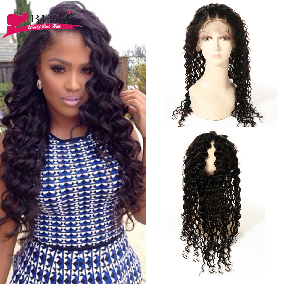 Pre Plucked 360 Lace Frontal Closure 8A Peruvian Deep Wave 360 Lace Virgin Hair Lace Frontals With Baby Hair Natural Hairline<br><br>Aliexpress