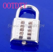5 Digit Push-Button Combination Number Luggage Travel Code Lock Padlock Silver #S018Y# High Quality