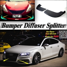 Car Splitter Diffuser Bumper Canard Lip For Audi A7 RS7 Tuning Body Kit / Front Deflector Car Flap Fin Chin Reduce Body