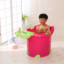 2016 wholesale Eco-friendly colorful deep plastic bath tub with seat for children shampoo