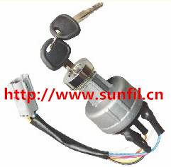 Wholesale Autoparts Hyundai Key Switch Starter, R55 R60 R200 R210 R220 Ignition Switch ,3PCS/LOT<br><br>Aliexpress