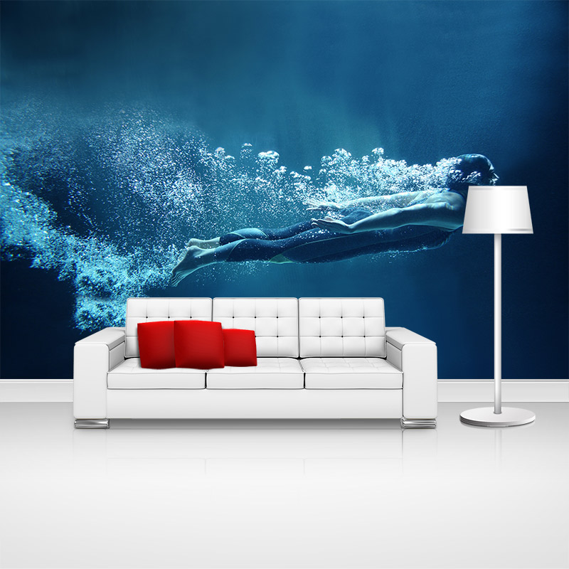 Custom home decor swimming sports photo papel de parede wall paper moderno 3 d wallpaper murals for boys kids room walls decal(China (Mainland))