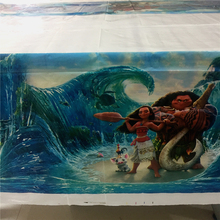 New Moana Theme Tablecover Tablecloth for Rectangle 108x180cm Table Birthday Party Decorations Supplies Table Cover Tables Cloth