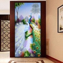 Алмазная вышивка 5D DIY алмазов картина вышивки крестом фиолетовый павлин картина 3D рукоделие Алмазная мозаика украшения дома(China)