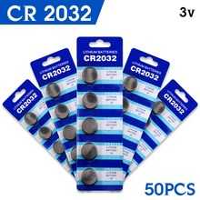 YCDC Hot 50pcs High Capacity  CR2032 DL2032 KCR2032 5004LC ECR2032 3v lithium battery Cell Button Card Toys Batteries LOT 2032
