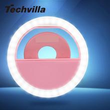techvilla USB Selfie Fill Light selfie ring flash LED Bulb Clip Camera Photography Photo Selflife lamp for Smart Phone Bright