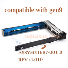 "NEW 651687-001 2.5"" Hot-Swap SAS SATA Hard Disk Drive Caddy for GEN 9 /Gen8 server , New retail, with screws(China)"