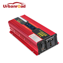 Urbanroad Solar Power Car Inverters 2000w 12v 220v 110v Car Power Inverters DC Voltage Transformer Car Converter 24v LCD Display(China)