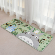 2016 Totoro Mat Super Soft Coral Fleece Cartoon rugs and carpets for home living room Anti-slip Kitchen carpet Bathroom Carpet