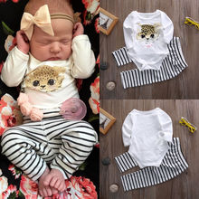 2016 cute cat baby girls clothing sets kids clothes baby girl long sleeve cotton romper bodysuit +long pants legging sets