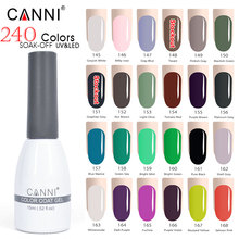 145-168 CANNI Manicure Hot sale nail uv gel polish 239 colors LED/UV soak off colors uv paint lacquer big jar gel nail polish