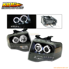 For 2007-2009 Ford Expedition CCFL Halo Projector Headlights BK USA Domestic Free Shipping