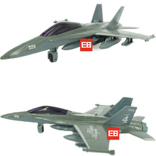 1:76 scale Boeing F-18 Hornet Strike Fighter diecast airplane F/A-18 plane model pull back alloy metal toys with light & sound(China)