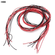 22AWG  24AWG  26AWG   Gauge Silicone Wire Flexible Stranded Copper Cable 10 Feet Fr RC Black Red