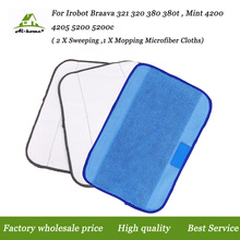 3-Pack Mixed Microfiber Mopping Cloths Pro-clean Floor Mopping for iRobot Braava 380 380t 320 Mint 4200 4205 5200 5200C Robots