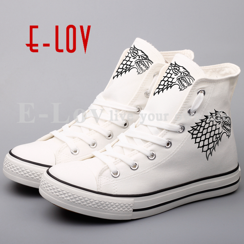 Hot Sale Game Canvas Shoes Women Printed Casual Leisure Shoes Plus Size Streetwear Lace-Up Shoes hip hop <br>