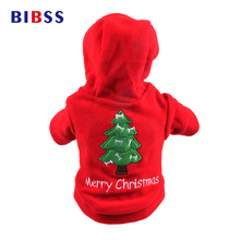 Pet Dog Christmas Clothes Puppy Sweaters Tree Pattern Costume Hoodie Outwear Thick Coat Apparel For Dogs XS-XL(China)