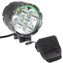 High Power 2500LM 5 x LB-XL T6 3 Modes Aluminum Alloy Shell Material LED Bicycle Light Headlamp with 8.4V 8000mAh Battery(China)