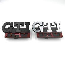 GTI 16V Rhino Tuning Emblem Decal network Sticker Front Grille Emblem Metal Car Head Grill Badge for VW GOLF POLO MK2 MK1