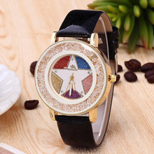 Fashion Trend of the New Five-pointed Star Ladies Watch Personality Diamond Ball Quartz Watch Simple Female Table(China)