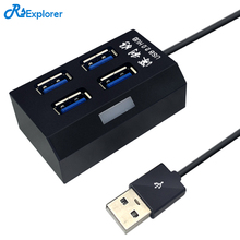 USB 2.0 HUB Support 4 USB port High speed support hot swap plug and play no driver needed Adapter Sharing Switch for PC(China)