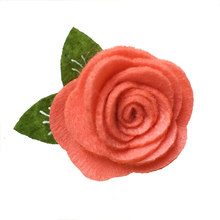 "hair flower without clips diy crafts and sewing 1.5"" felt rose for making felt flower hair barrettes wedding party embellishment"