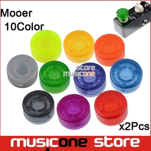 2Pcs Mooer Multi color Candy Footswitch Topper Plastic Bumpers Footswitch Protector For Mooer pedal knob Guitar Effect Pedal