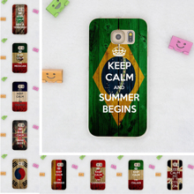keep calm and carry on flag Hard Transparent Case Cover for Galaxy S6 S7 & Edge S8 Plus S3 S4 S5 & Mini