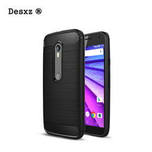 Desxz Phone Case For Motorola Moto G3 Soft TPU Silicone Brushed Case Cover Coque for Fundas MOTO G3 Phone cases cover(China)