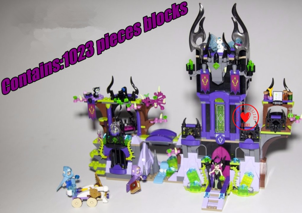 Friends Girl Elves Raganas Magic Shadow Castle model building Blocks Bricks Toy children Toys Compatible with lego gift kid set<br>
