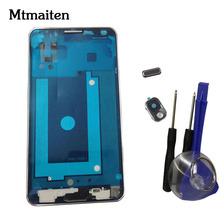 Mtmaiten Middle frame for Samsung Galaxy Note 3 N9005 N900 3G Front Frame Bezel Housing+button Free Tools(China)