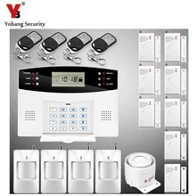 YobangSecurity 7 Wired 99 Wireless Guard Zones GSM Burglar Alarm System Security Home Voice Prompt Remote Control Alarm Sensor(China)