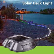 10X Path Driveway Pathway Solar Deck Light LED Security Road Stud Marker 500M Visible Distance Solar Step Traffic Garden Light