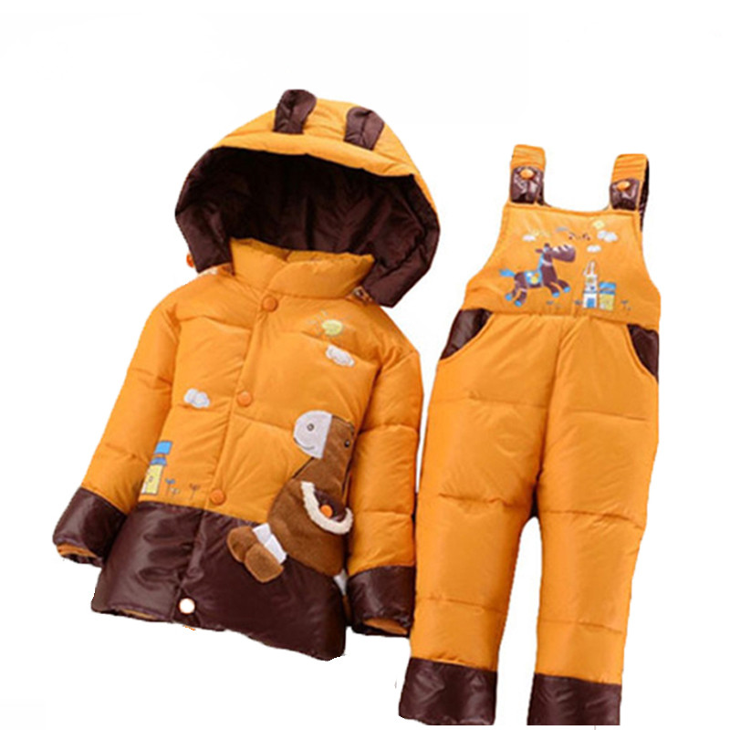 NEW 2017 winter children clothing sets duck down jacket sets pants-jacket hooded baby girls winter jacket &amp; coat Pony pattern<br><br>Aliexpress