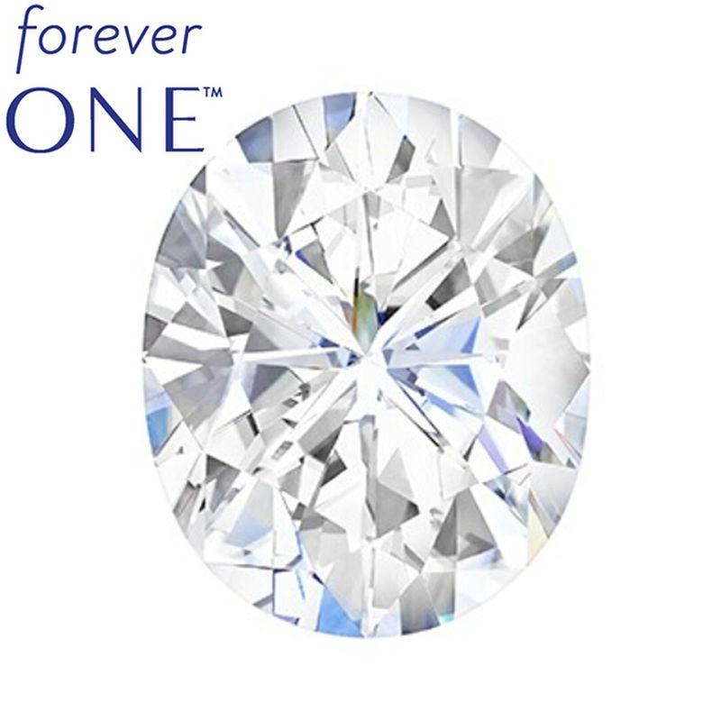 forever one moissanite oval cut
