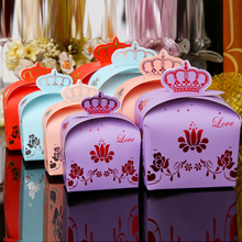 diamond embroideryBridal wedding wedding candy box packaging carton individuality four-color crown European candy boxes