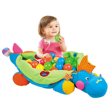 Colorful soft baby blanket play mat bb dinosaur toys with sea ball inflatable pool cartoon playmat wave ball