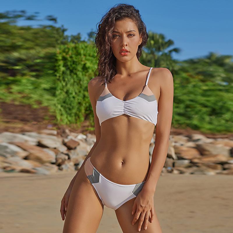 Ariel Sarah Brand Bikini 17 New Bandage Swimsuit Swimwear Women Patchwork Bikinis Set Low Waist Women Bathing suit BiquiniQ029 12