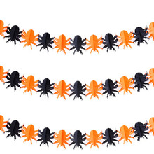 1 set Hanging Paper Halloween Supplies Ghost Pumpkin Bat Skull Funny Door Hanger Foldable Fun Halloween Party Props Decoration