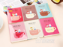 Cute Cartoon Milk Tea Cup Notebook Diary Notepad Schedule Notes Soft Cute 1 Piece(China)