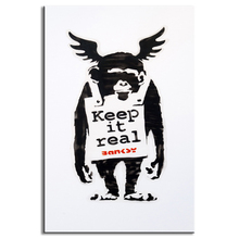 1 Pcs Banksy Art  Animal Keep It Real Wall Art Graffiti Chimpanzees WIth Wings Canvas Prints Painting Street Artwork Home Decor