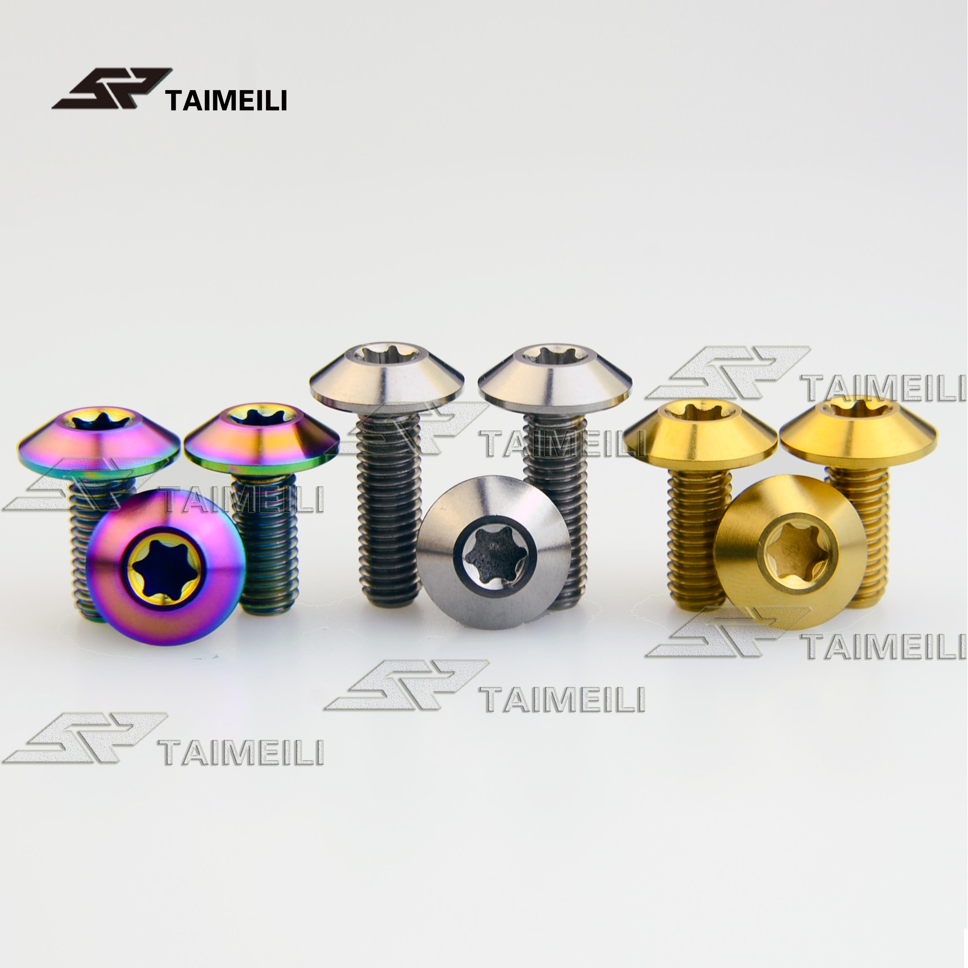 4pcs Titanium Bolts M6 x 12//15//20mm Umbrella shaped Head Screws