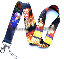 New 10 Pcs Japanese Anime Dragon Ball Phone key chain Neck Strap Keys Camera ID Card Lanyard