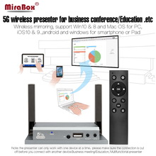 MiraBox VGA HDMI WiFi Display For iOS Android Windows 10 Mac OS Airplay Miracast DLNA VGA HDMI WiFi Display With IR Controller(China)