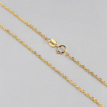 Girl Love Best Fine Jewelry Solid Sterling Silver Necklace Yellow Gold White Gold Rose Gold Chain Necklace(China)