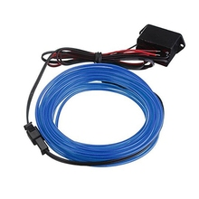 2M EL Cable DC 12V Flexible Neon Lights for Christmas Parties Rave Parties Halloween Costumes Retail Shop Display (Blue)(China)