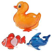 Mini Inflatable Wind Up Fish / Dolphin / Duck Model Toys for Kids Children Gifts(China)